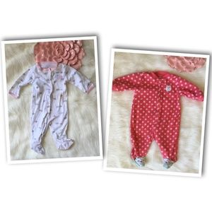 *LOT OF 2* CARTER'S Sleep and Plays- Sz 3M
